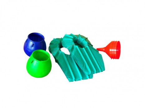 Scrap basket, Funnel, Tapping shade